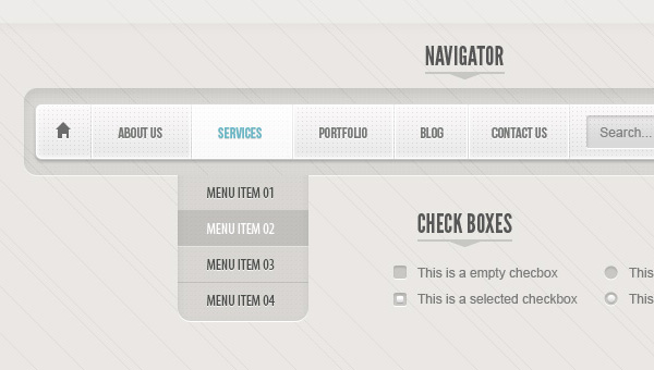 Classic Grey Psd Web UI Set
