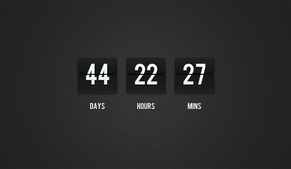 Flip-Clock Countdown