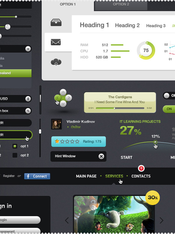 Futurico Free – User Interface Elements Pack