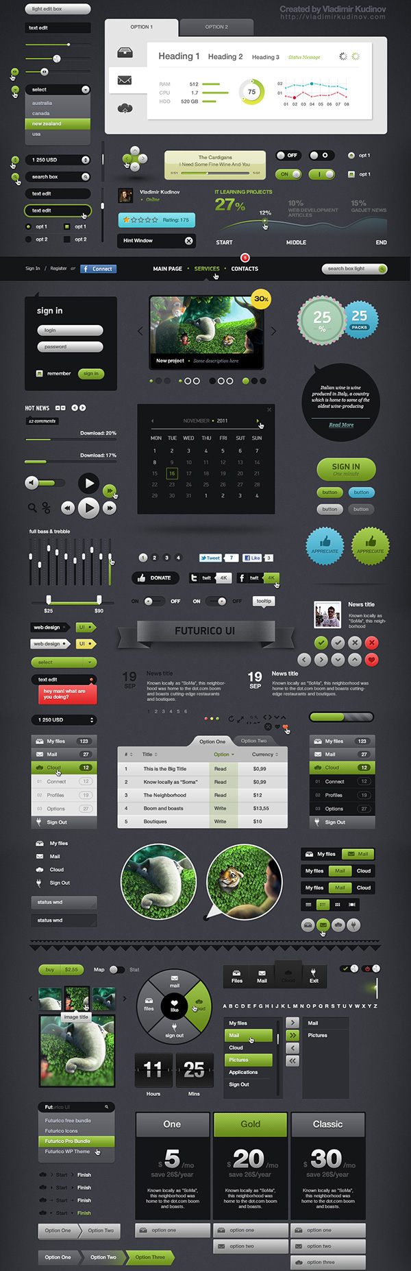 Futurico UI Pro – User Interface Elements Pack