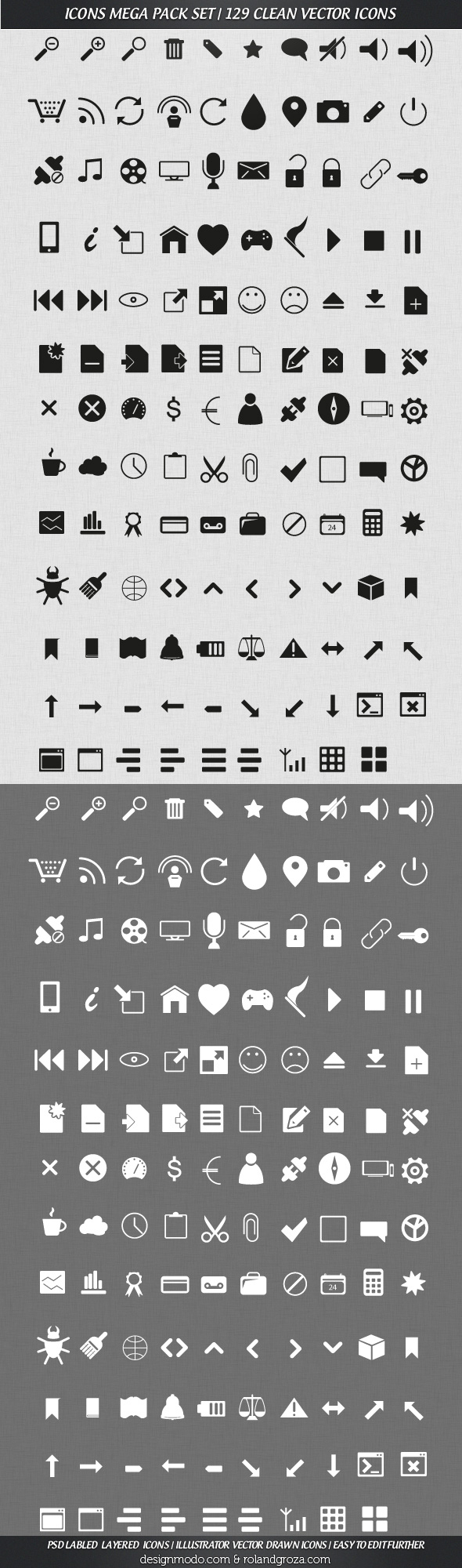 Mega Pack Vector Icons Set
