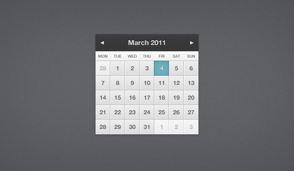 Pretty Little Calendar
