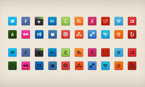 Purty Social Icon Set