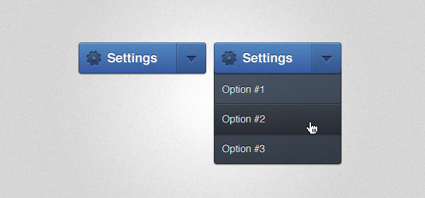 Settings Dropdown Menu