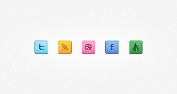Shiny Social Media Set