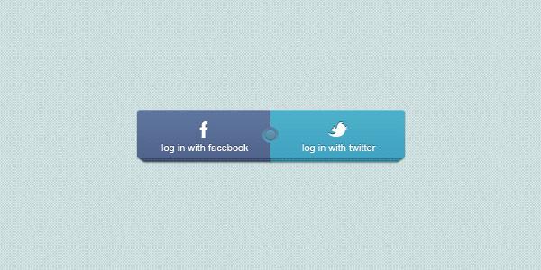 Facebook / Twitter Login Buttons