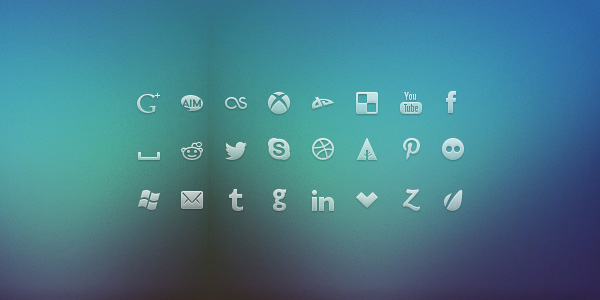Glyph Social Network Icons