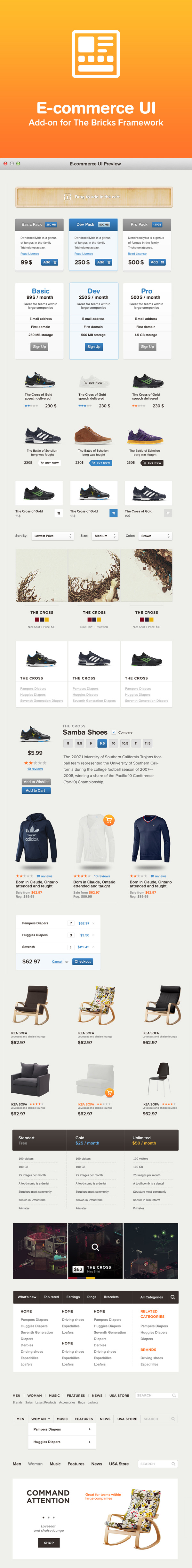 E-commerce UI – User Interface Kit