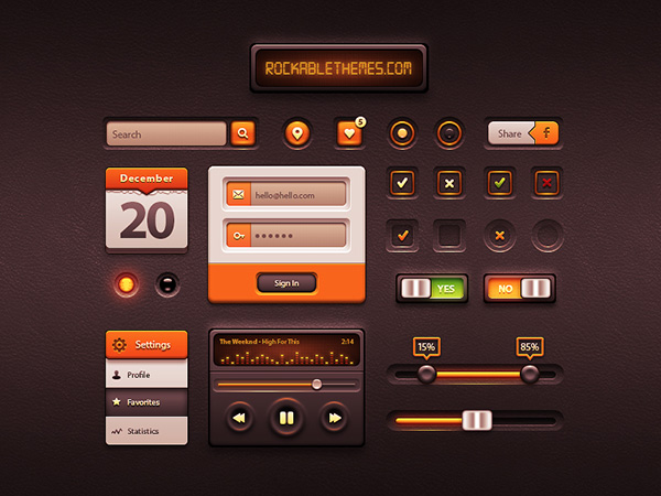 Caramel UI – Free User Interface Kit