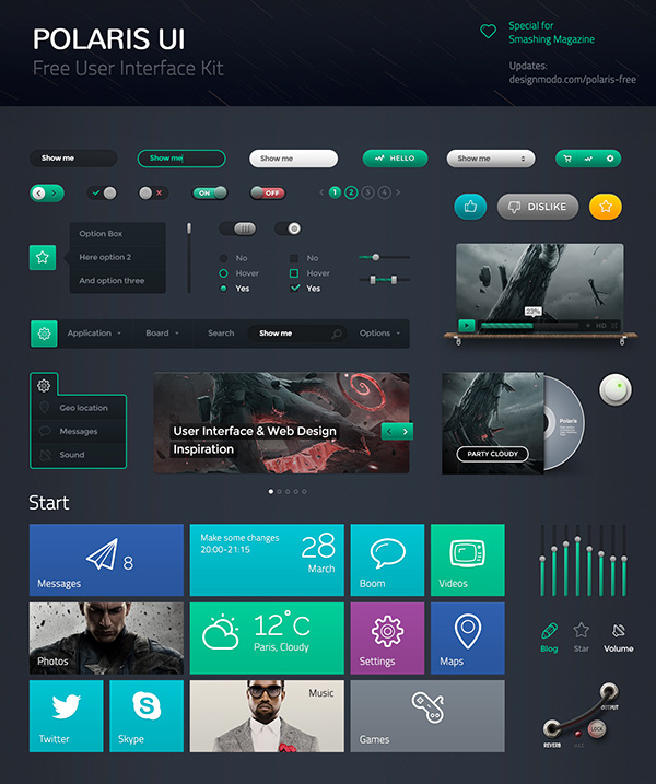 Polaris UI Free - User Interface Pack