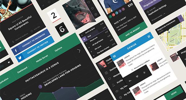Square UI - User Interface Kit
