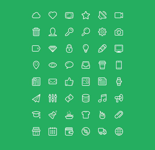 Linecons Free - Vector Icons Pack