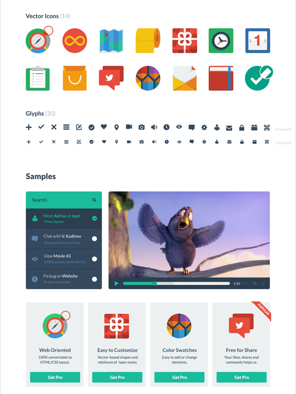 Flat UI Free - PSD&HTML User Interface Kit