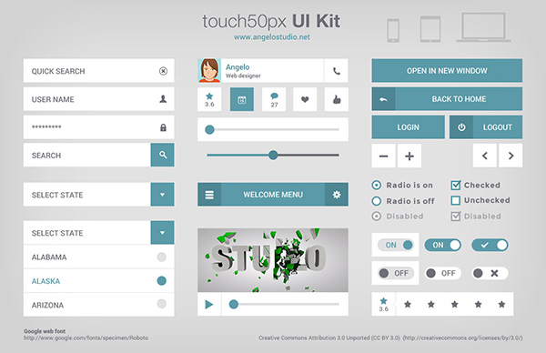 touch50px UI KIT