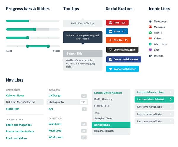 Flat UI Pro - PSD&HTML UI Kit