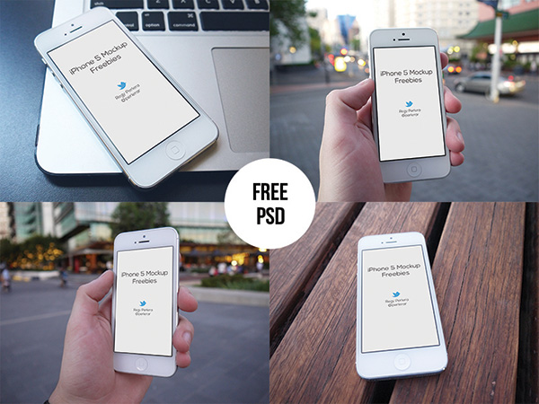 Free iPhone 5 Mockups