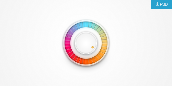 Rainbow Volume Knob