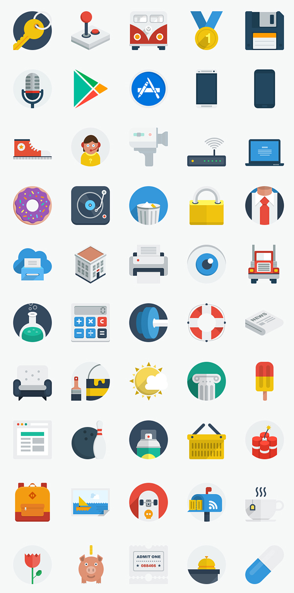 50 New Flat UI Icons