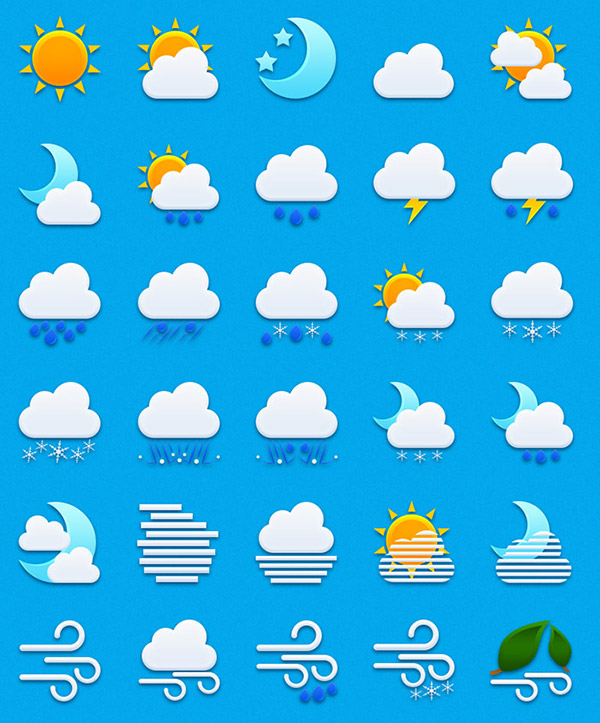 55 Free Weather Icons