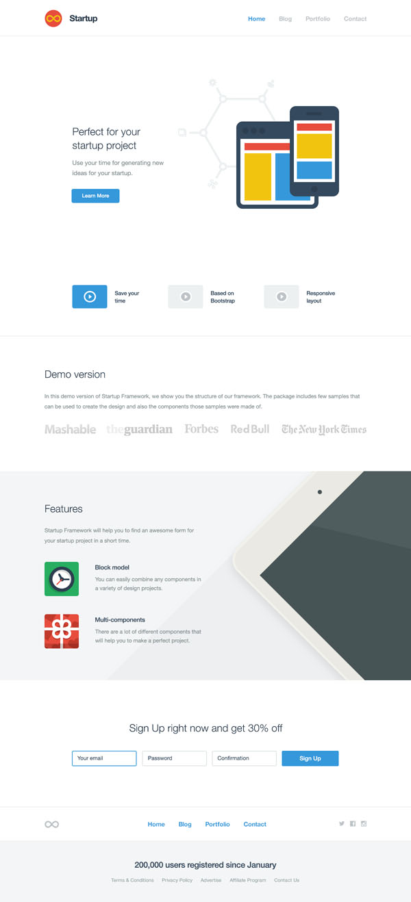 Technology Website Template