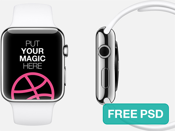 Apple Watch Free PSD Template