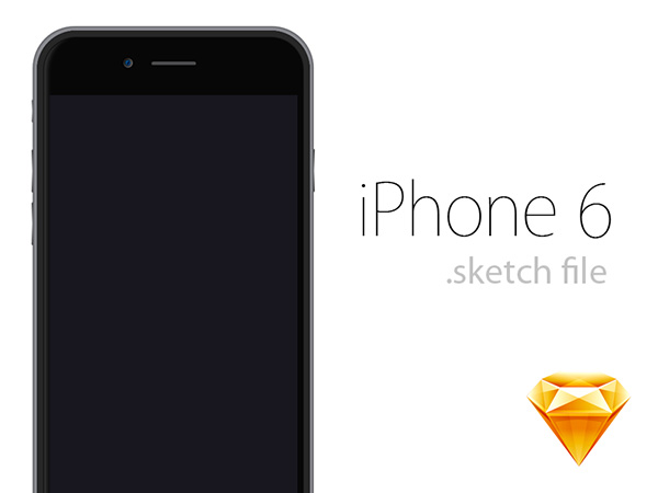 iPhone 6 .sketch Template