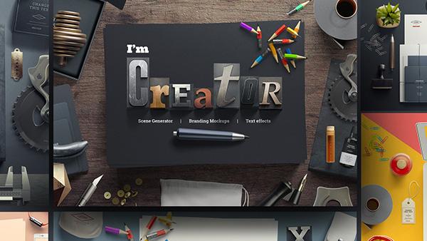 I am Creator - Mockup Scene Generator