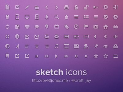 Sketch Icons set for Sketch