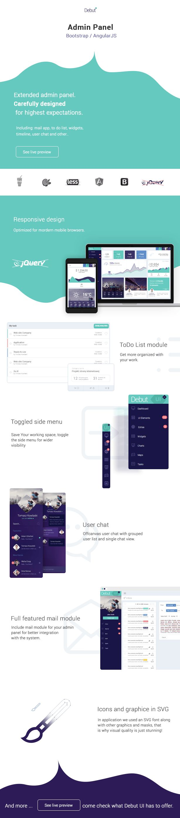 Premium AngularJS Admin Dashboard Template